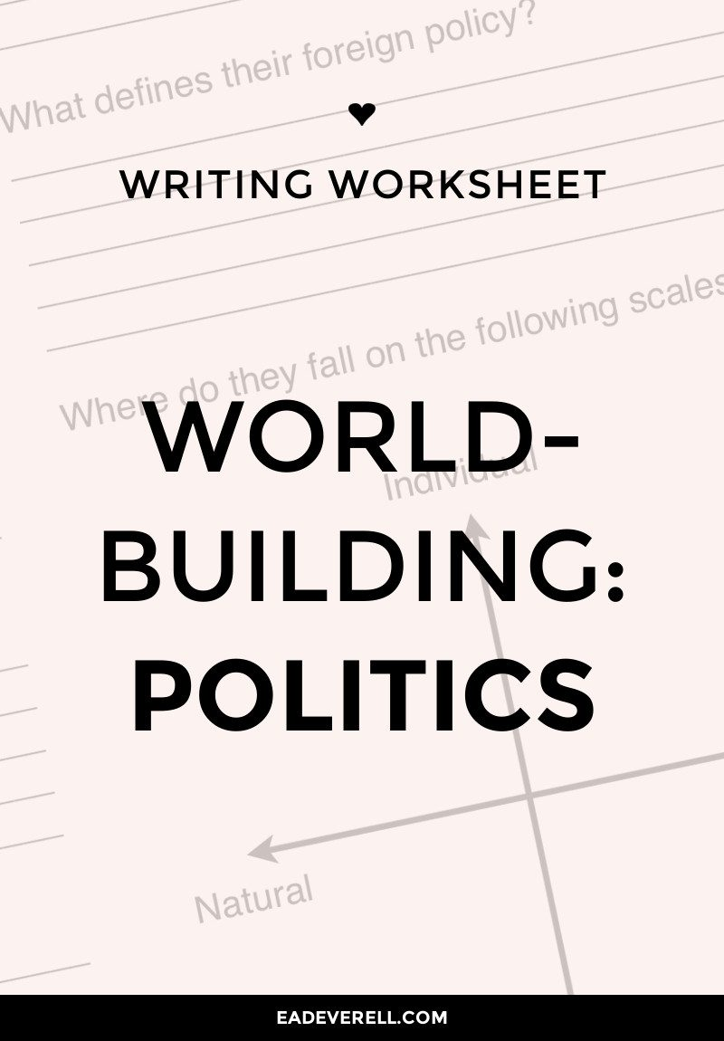 Worldbuilding politics worksheet