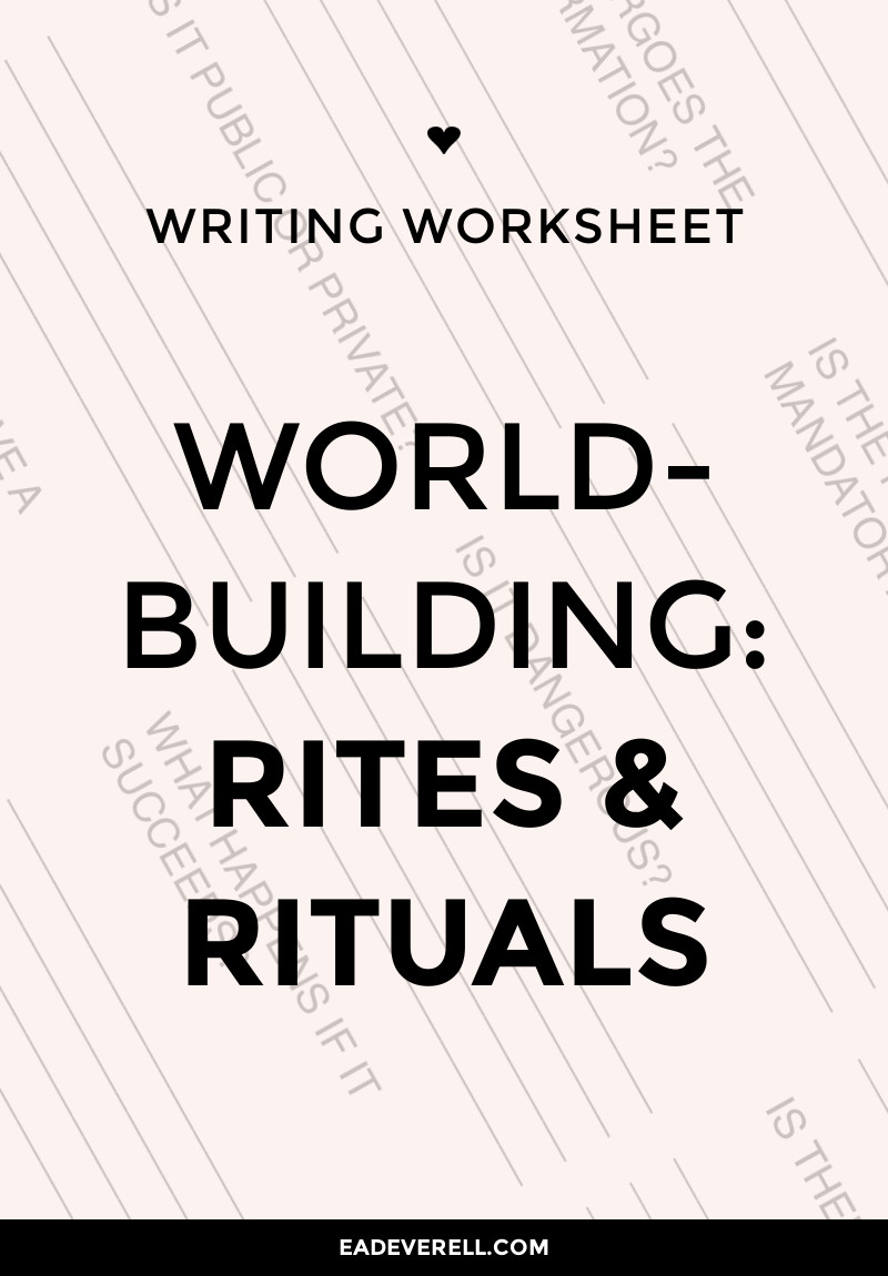 Worldbuilding - Rites and Rituals