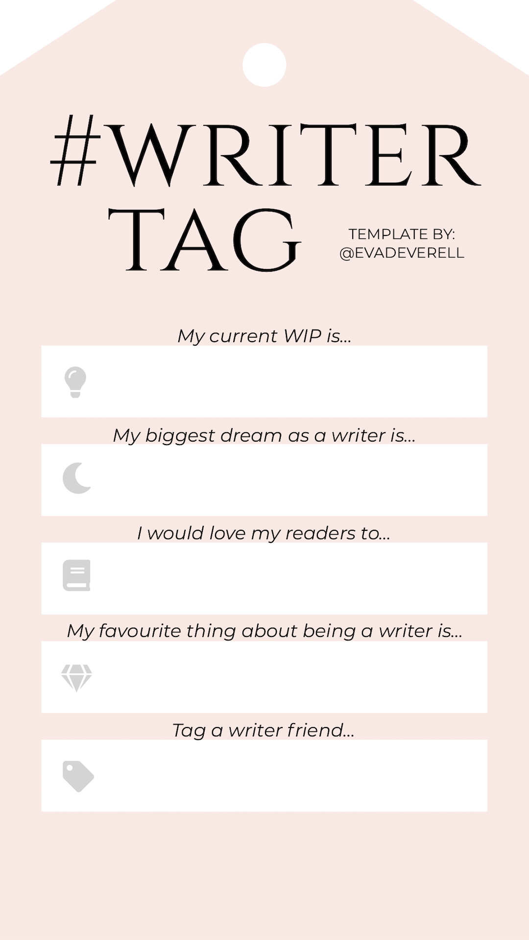 Instagram Story Template - Writer Tag