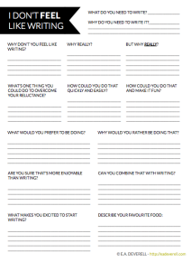 Writer's Block Worksheet