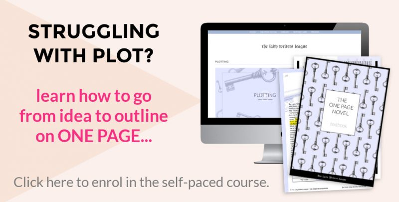 Writing course teaching you how to plot your novel.
