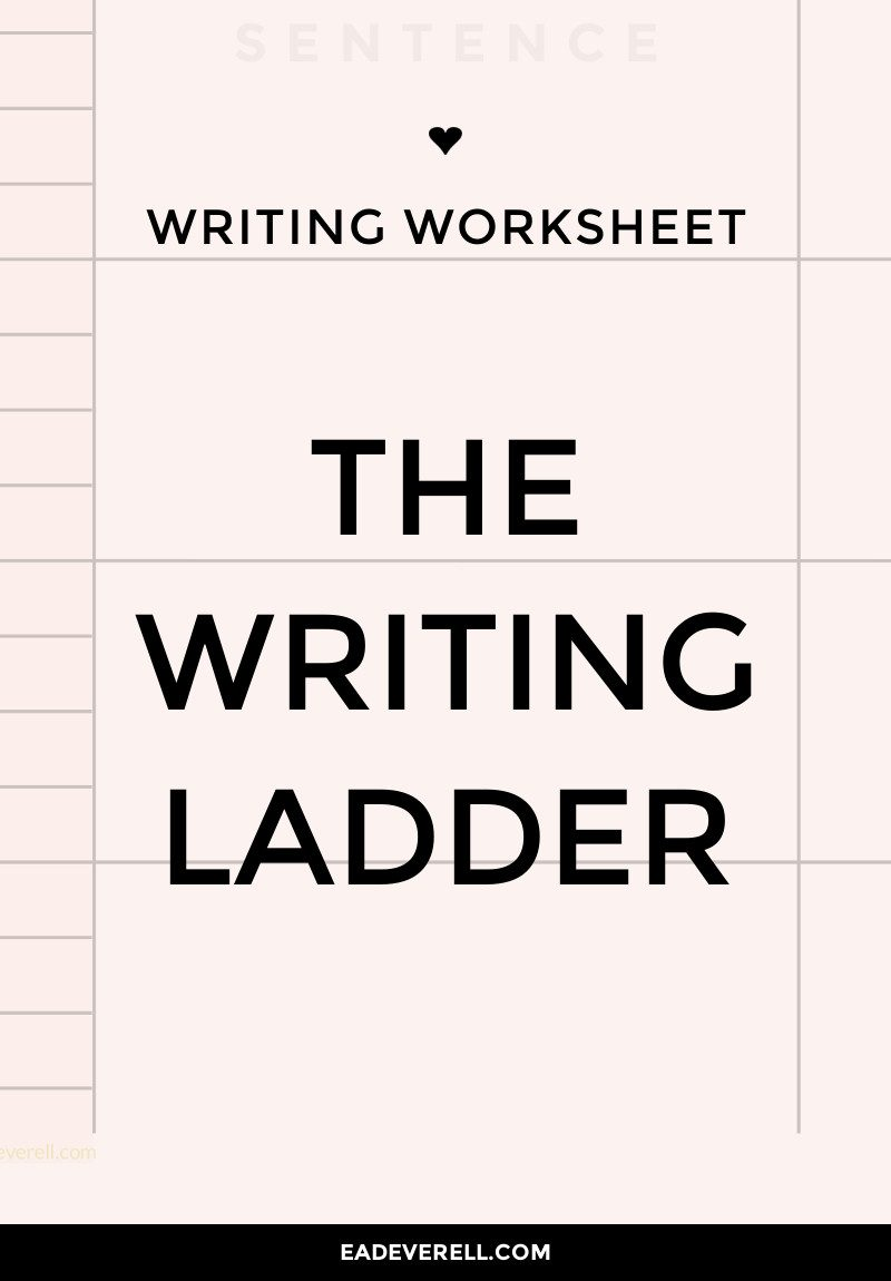 The Writing Ladder Exercise for daily writing practice