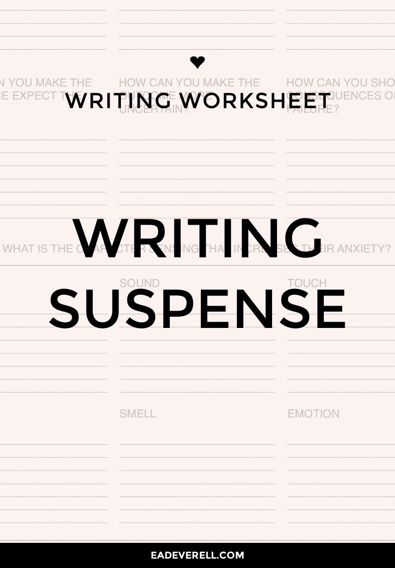 Writing Suspense - how can you make your writing more suspenseful?