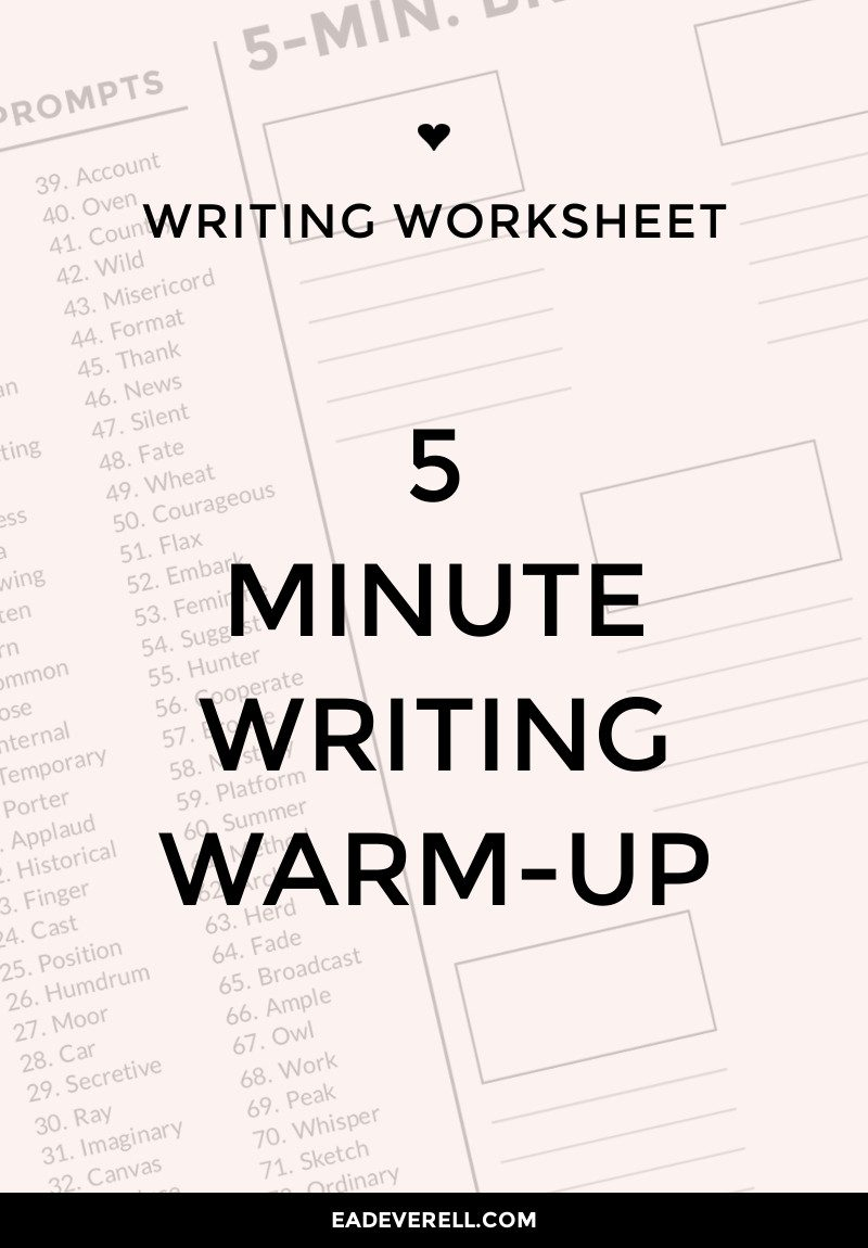 writing exercise - writing warm up