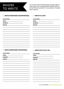 Where to write - writing worksheet