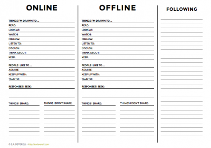 Social media - writing worksheet