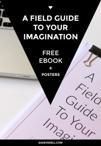 ❤ Writing Ebook – A Field Guide to Your Imagination ✎✎✎ 36 pages of inspirational guidance, exercises & posters.