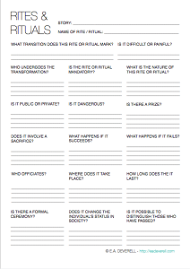 Creative Writing Worksheet - Worldbuilding