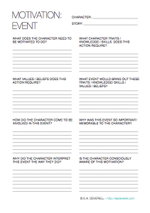 Motivation Writing Worksheet