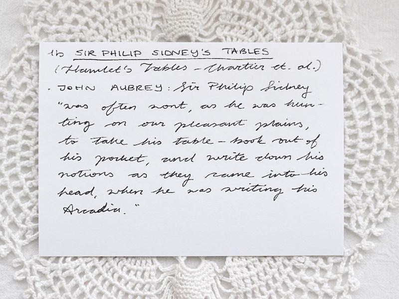 1b Sir Philip Sidney's Tables